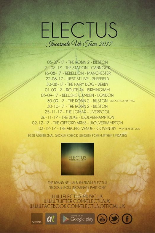 Electus 2017 Tour dates
